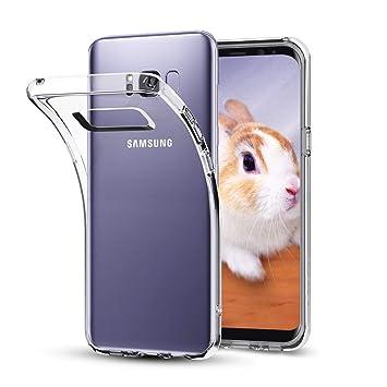NONZERS Funda para Samsung Galaxy S8,Carcasa para Galaxy S8, Resistente a Arañazas,Transparente Carcasa Silicona Cristal para Samsung Galaxy S8