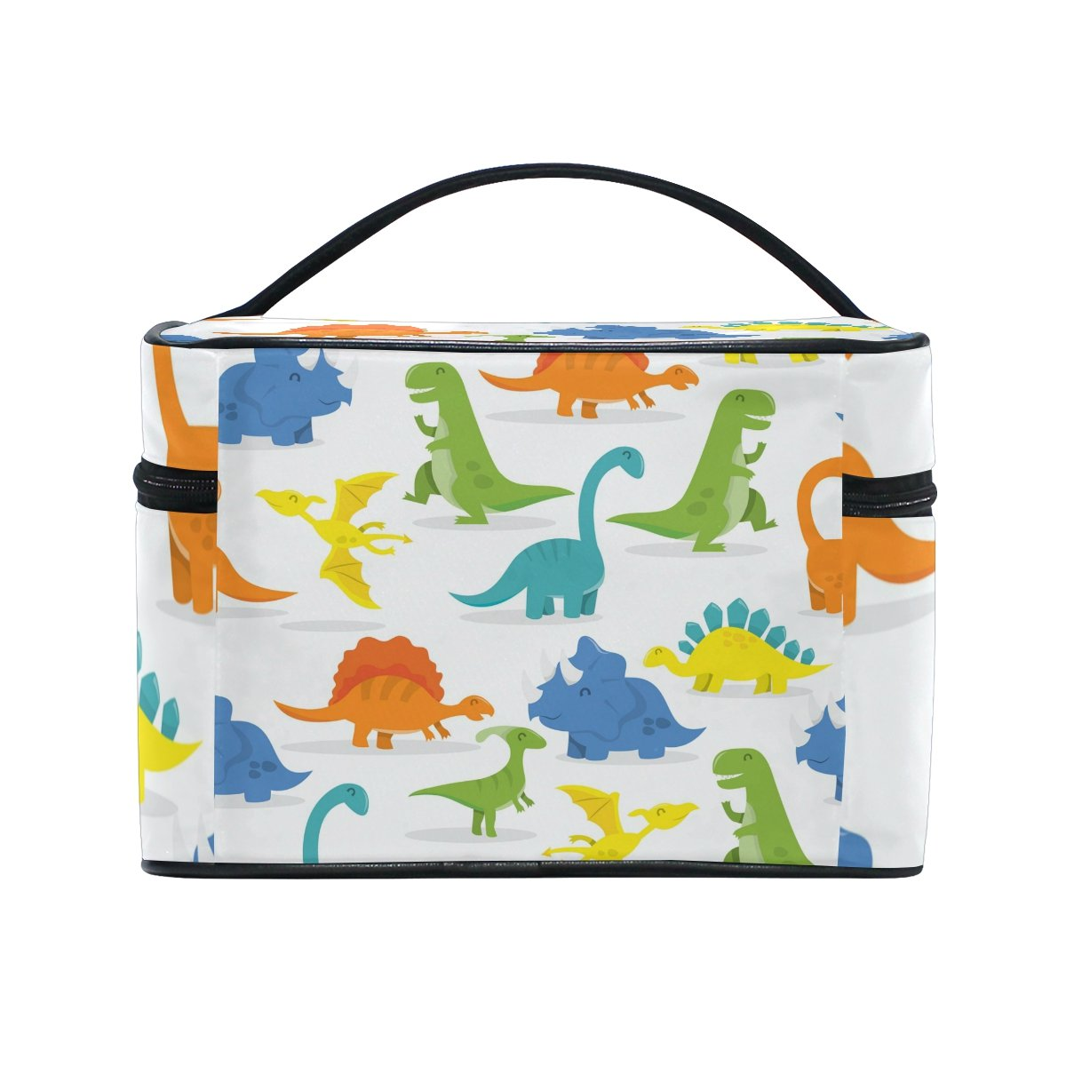 Amazon.com : ALIREA Cartoon Dinosaur Cosmetic Bag Travel Makeup Train Cases Storage Organizer : Beauty
