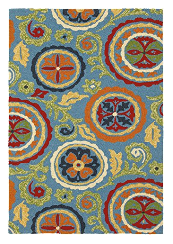 Price comparison product image Company C Fair Winds Synthetic Accent Rug, 8' x 10' , Blue