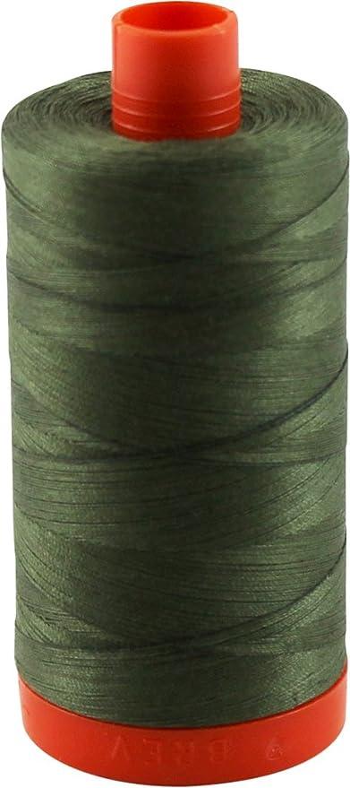 Army Green A1050-2905 Aurifil 50wt Mako Cotton Thread 1,422 yards