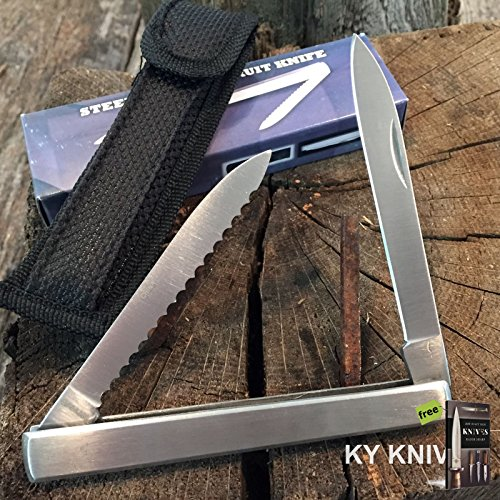 HARVEST FRUIT KNIFE MELON TESTER, 4 5/8 CLOSED With Holster 210960 + Free eBook by SURVIVAL STEEL