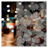 BDF 4WHLV Decorative Window Film White Leaves (24in X 7ft)