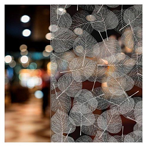 BDF 4WHLV Decorative Window Film White Leaves (36in X -
