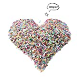 Teenitor 100 Grams Glitter Confetti Stars, Hearts, Moon, Butterfly, Round, Music Shape for Sticking to Slime, DIY Crafts, Nail Art and Decoration