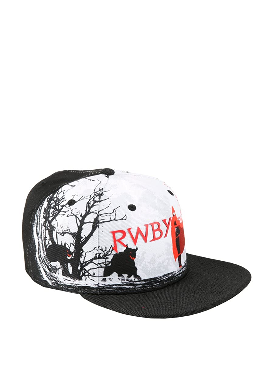 56379115ea9 Hot Topic RWBY Ruby Red Cloak Sublimation Print Snapback Hat at Amazon  Men s Clothing store