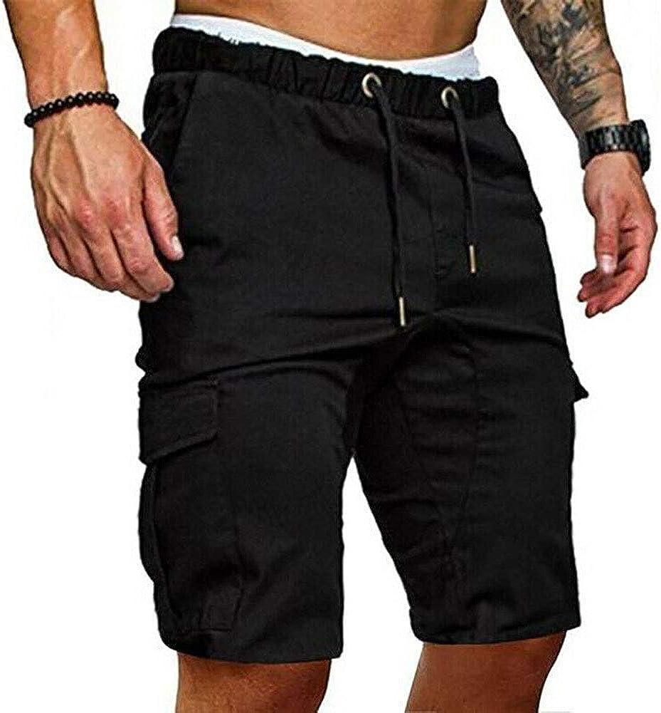 MOUTEN Mens Jogger Elastic Waist Big Pockets Casual Workout Shorts