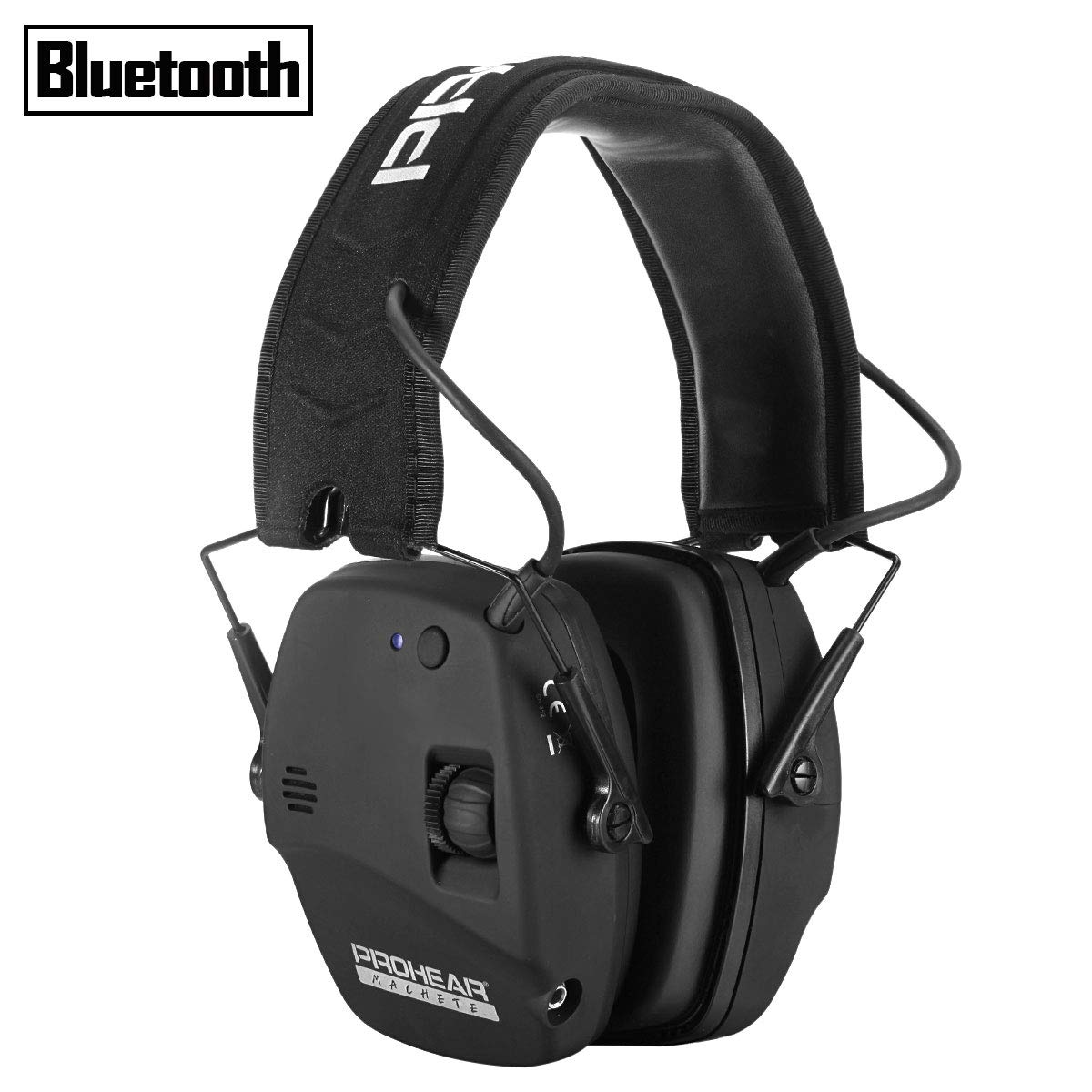PROHEAR 030 Electronic Shooting Ear Protection Muffs with Bluetooth, Sound Amplification Noise Reduction Hearing Protector, Perfect for Hunting and Shooting - Black