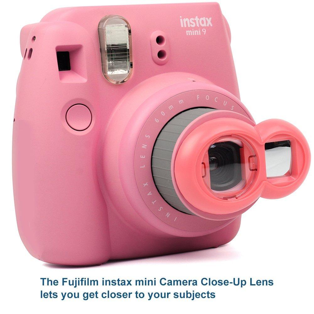 Starry Sky Hanging Frames - Protective Case Flamingo Pink DNO Fujifilm Instax Mini 9 Accessories Photo Album Filters /& Selfie Lens Film Decor Stickers /& More 11 Piece Kit