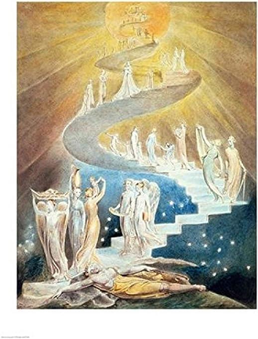 William Blake – La escalera de Jacob Artistica di Stampa (45,72 x ...