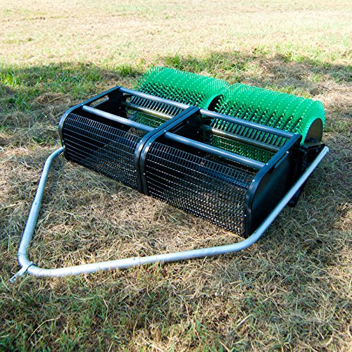 36'' Pull Behind Nut Picker Upper- Attaches to Your Mower, ATV or Golf Cart; Collects Pecans, Almonds, Large Acorns by Bag-A-Nut