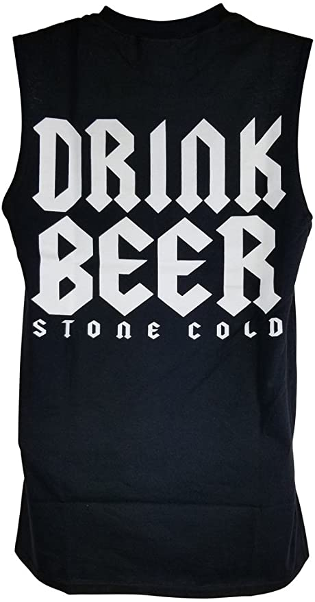Amazon.com  Hybrid Tees Stone Cold Steve Austin Drink Beer F Fear  Sleeveless Muscle T-Shirt  Clothing 2845efc9a