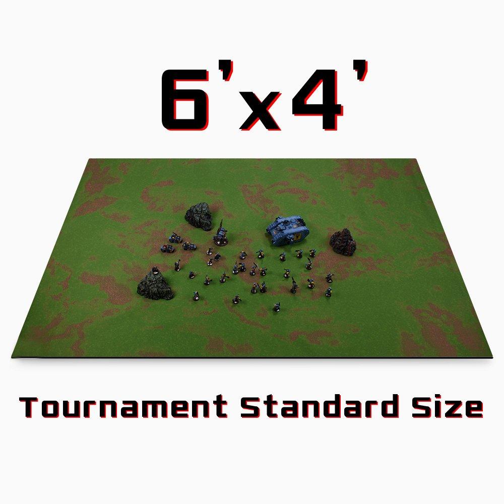 Stratagem 6' x 4' Open Field Grass Terrain Neoprene Tabletop Wargaming Grass Field Battlemat Carrying Case by Stratagem (Image #3)