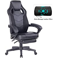 HEALGEN Gaming Chair with Footrest Racing Computer PC Chair Ergonomic High Back Swivel Executive Office Chair Mesh Leather Reclining Desk Chair