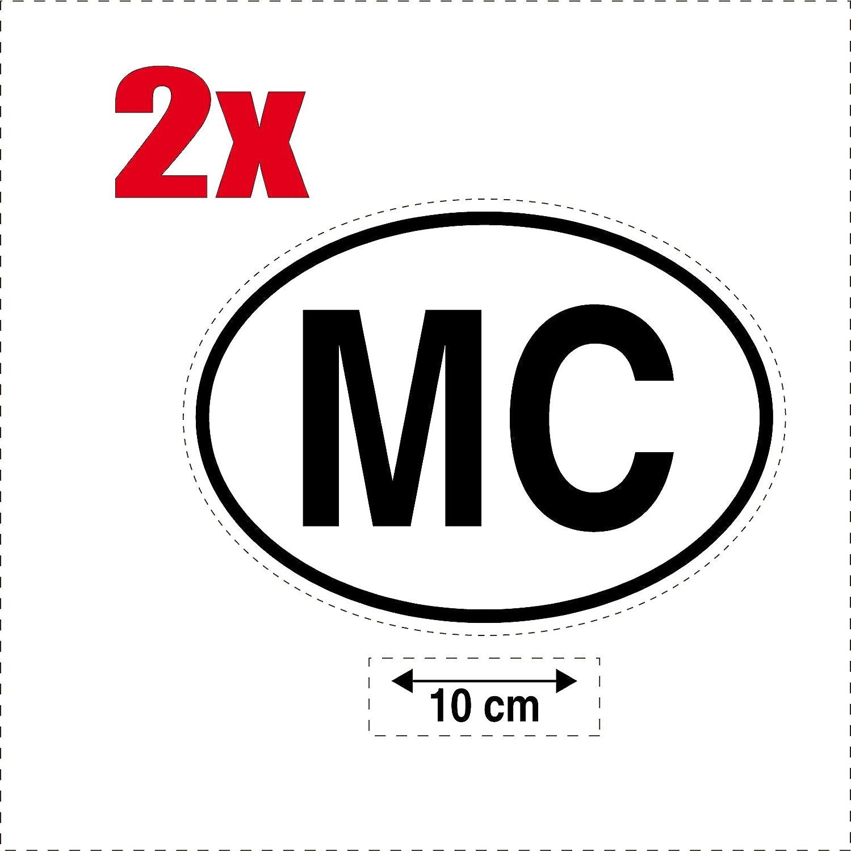 2x Autocollant sticker drapeau oval code pays voiture moto MC-MONACO SAFIRMES