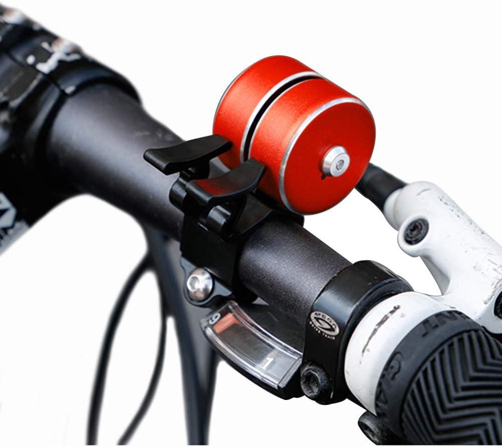 ATNKE Bicycle Bell Mini Aluminum Bike Double Bell Ring Loud /& Clear Crisp Sound Bike Accessories for Tricycle Mountain Road Bike MTB BMX Electric Bike