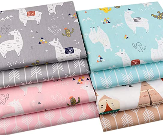 Ocean Animals 7 Pack Cotton Quilt Fabrics Crafting Sewing Quilting Material-Choose Your Cut