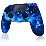 PS4 Controller Wireless Gamepad for Playstation 4/Pro/Slim/PC and Laptop with Motion Motors, Audio Function, Mini LED Indicat