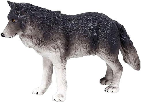 FLORMOON Lobo Figura - Realista Figuras Animales Figuritas Lobo - Juguetes educativos tempranos Proyecto de Ciencias Navidad Cumpleaños niños y niñas (Gris): Amazon.es: Juguetes y juegos