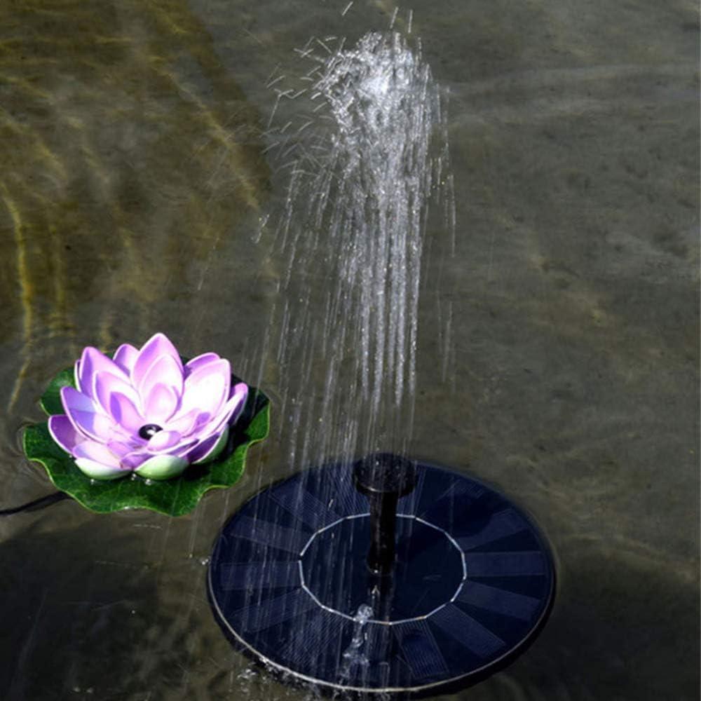 Rlock Solar Fountain Pump Fountain Solar Powered Fountain Floating Bird Bath Water Pumps Pond Solar Panel Kit Water Pump Garden Patio Decoration