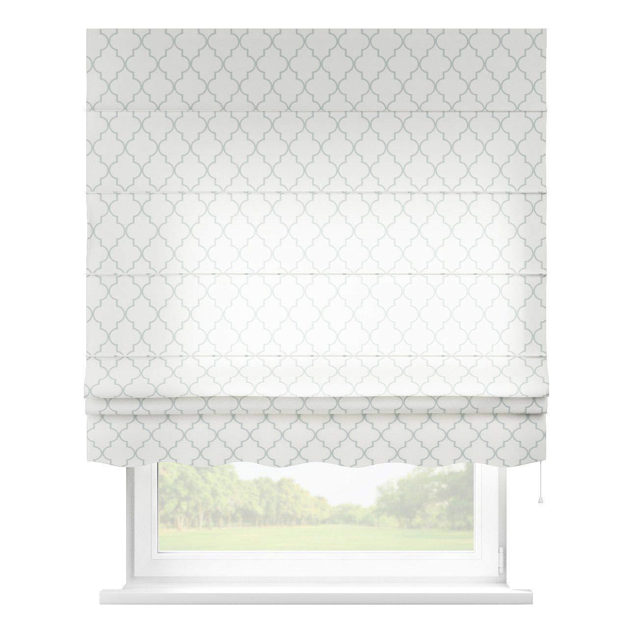 Dekoria Raffrollo Firenze ohne Bohren Blickdicht Faltvorhang Raffgardine Wohnzimmer Schlafzimmer Kinderzimmer 130 × 170 cm weiß Raffrollos auf Maß maßanfertigung möglich