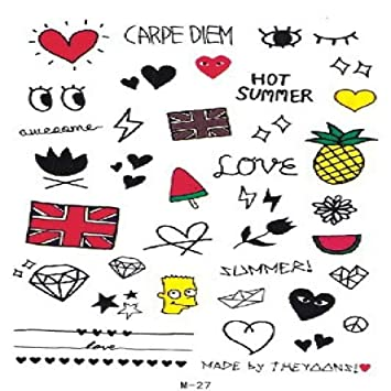 9 piezas tatuaje pegatinas ukiyoe sexy flor brazo Bana flor ...