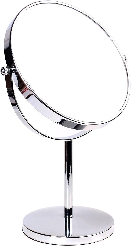 Un grande specchio da tavolo rotondo, cromato Francia