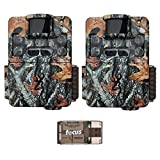 Two Browning Strike Force Pro XD Dual Lens Trail/Game Cameras with Focus USB Card Reader