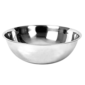 Excellante Mixing Bowl, Heavy Duty, Stainless Steel, 22 Gauge, 20 Quart, 0.8 mm