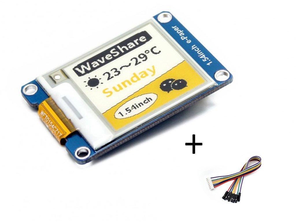 waveshare Tri-color 1.54inch E-Ink Display Module Three-color Yellow/Black/White 152x152 Arduino E-paper Screen Panel SPI Interface Support 2B/3B/Zero/Zero W