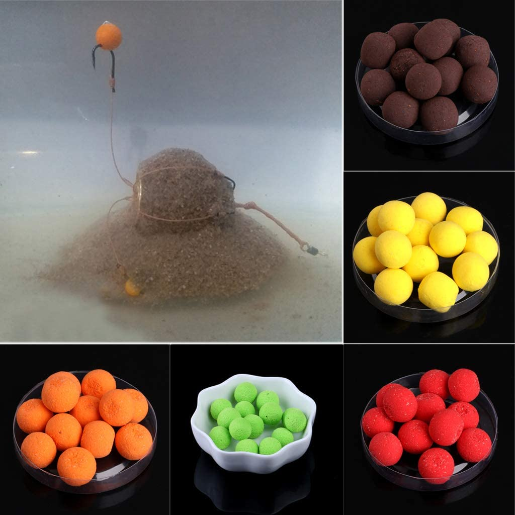 peng 15g 12mm Floating Ball Beads Feeder Carp Fishing Baits Smell Lures 7 Flavours New