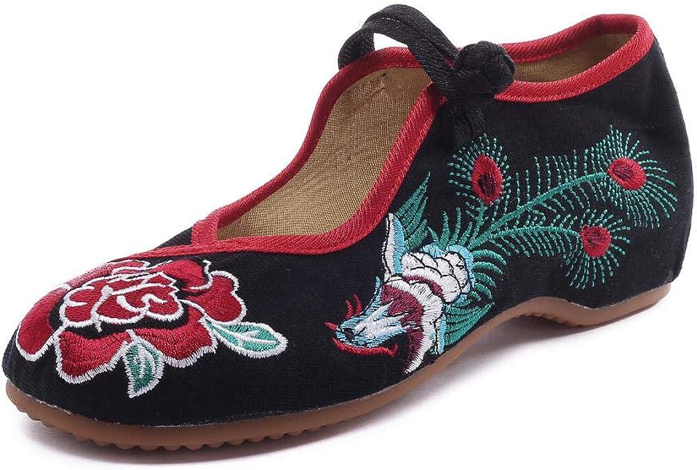 Zapatos Bordados Zapatos de Tela Zapatos de Mujer con Capas de Cojines Blandas Coser a Mano Estilo Chino: Amazon.es: Zapatos y complementos