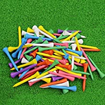 "CRESTGOLF Professional 2 1/8"" Deluxe Wood Golf Tee---Mixed Color,100 Count"
