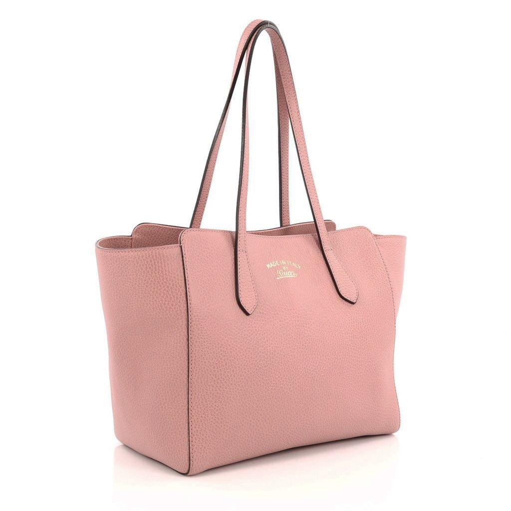 ea96ec0ed4b90b Gucci Women's Swing Tote Small Light Pink Leather 354408: Amazon.ca: Shoes  & Handbags