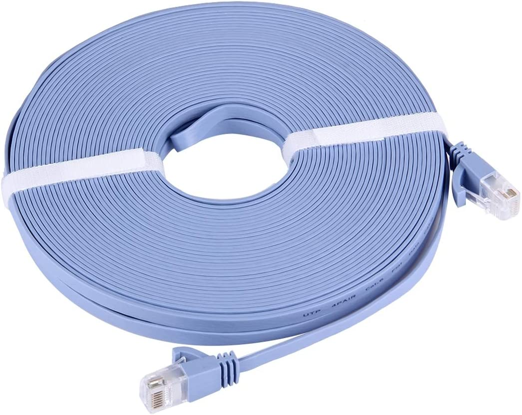 20m Length CAT6 Ultra-Thin Flat Ethernet Network LAN Cable