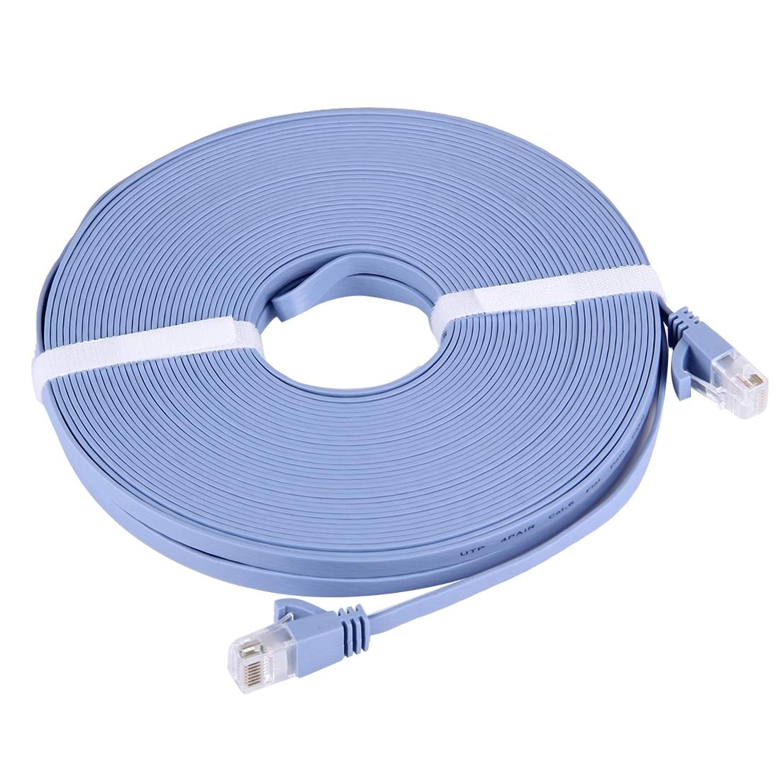 LIAOTIAN Length Baby Blue CAT6 Ultra-Thin Flat Ethernet Network LAN Cable 3m