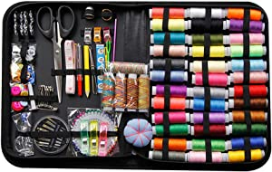 Sewing Kit, 200Pcs, Premium Sewing Supplies, Anti-Scratch Durable 600D Oxford Fabric Sewing Kits for Adults, Sewing Kits Set Suitable for Traveller, Emergency, Beginner, Kids, Home and DIY (200psc)