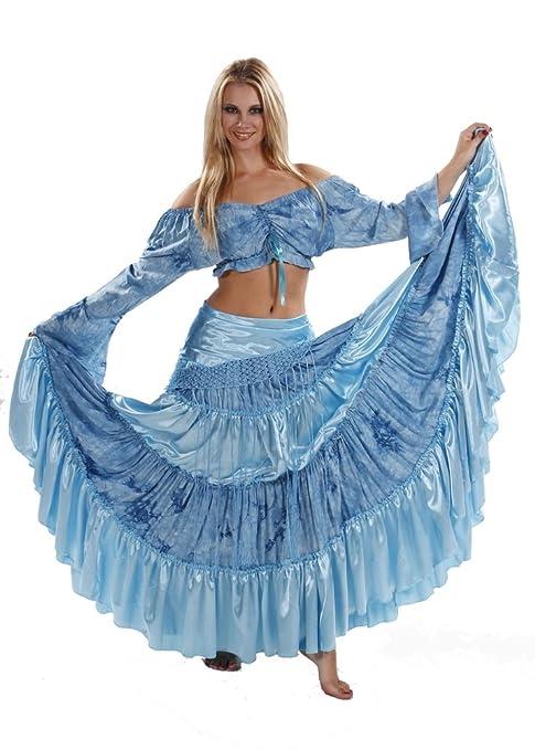 Miss Belly Dance Falda de Danza del Vientre, Falda de satén y ...