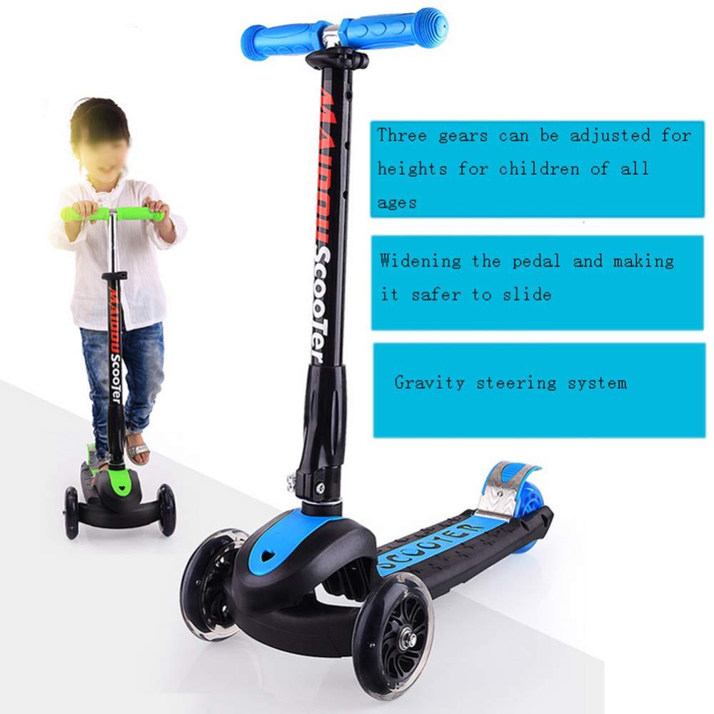 Three Flashing Wheels Children Scooter Gravity Steering Foldable For Kids KY Cityroller & Kickboards