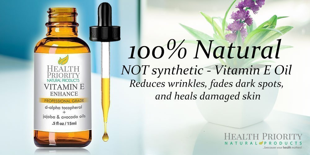 100% All Natural & Organic Vitamin E Oil For Your Face & Skin - 15,000/30,000 IU - Reduces Wrinkles, Lightens Dark Spots, Heals Stretch Marks & Surgical Scars. Best Treatment for Hair, Nails, Lips by Health Priority Natural Products (Image #8)