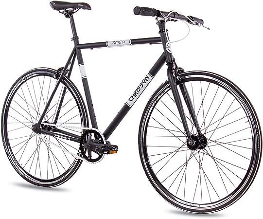 Chrisson a doppia velocit/à FG Flat 1.0 bicicletta vintage da 28 pollici Urban Old School Fixed Gear Bike per uomo e donna colore bianco