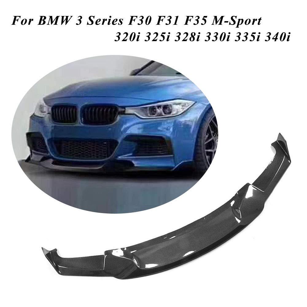 JC SPORTLINE fits BMW 3 Series F30 F31 F35 320i 325i 328i 330i 335i 340i M-Sport 2013-2018 Carbon Fiber Front Bumper Spoiler CF Lower Lip
