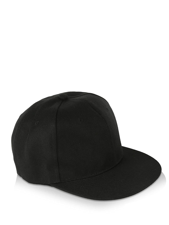bd98df2a14b Huntsman Era Men S Baseball Cap (Black Plain Hiphop Black Medium)   Amazon.in  Clothing   Accessories