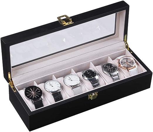 Mhomrs - Caja Protectora para Relojes (6 Ranuras, Madera): Amazon ...