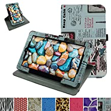 "RCA 10 Viking Pro 10.1 Rotating Case,Mama Mouth 360 Degree Rotary Stand With Cute Lovely Pattern Cover For 10.1"" RCA 10 Viking Pro Tablet,Newspaper"