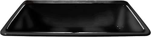 CECO Sinks-Delray 753-4-78 Single Bowl Self Rimming Cast Iron Kitchen Sink 33 X 22 X 9 , Black