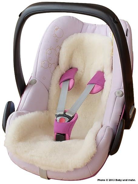 ByBoom - Baby Lammwoll-Auflage, Universal für Babyschale, Autokindersitz, z.B. für Maxi-Cosi, Römer, für Babybett, Kinderwage