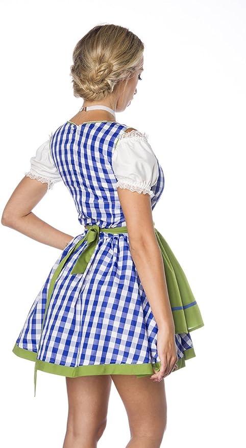 Vestido disfraz de tirolesa con delantal, mini tirolesa con patrón ...