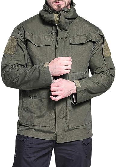 US Men/'s Outdoor Warm Hooded Jacket Waterproof Outwear Rain Coat Tactical Winter