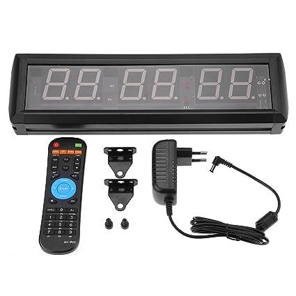 "Aramox 1.8"" Reloj de Pared LED Gimnasio Temporizador de intervalos Cronómetro con Control Remoto IR"