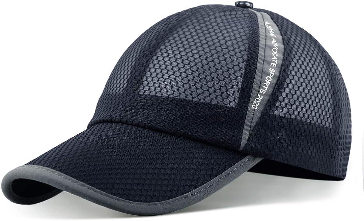 ELLEWIN Unisex Breathable Quick Dry Mesh Baseball Cap Running hat: Clothing
